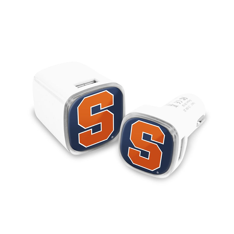 Syracuse Orangemen Car & Wall Charger 2 Pack - Prime Brands Group