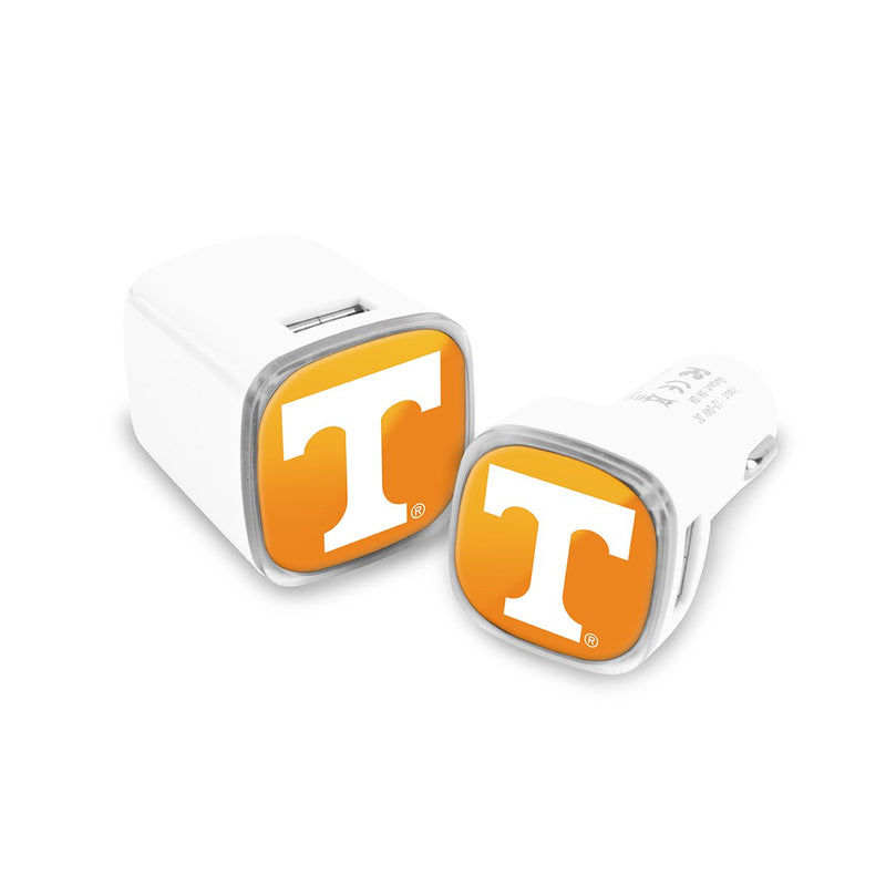 Tennessee Volunteers Car & Wall Charger 2 Pack - Prime Brands Group
