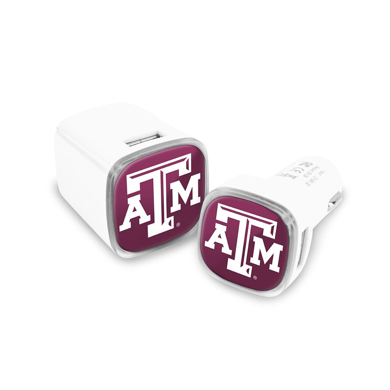 Texas A&M Car & Wall Charger 2 Pack - Prime Brands Group