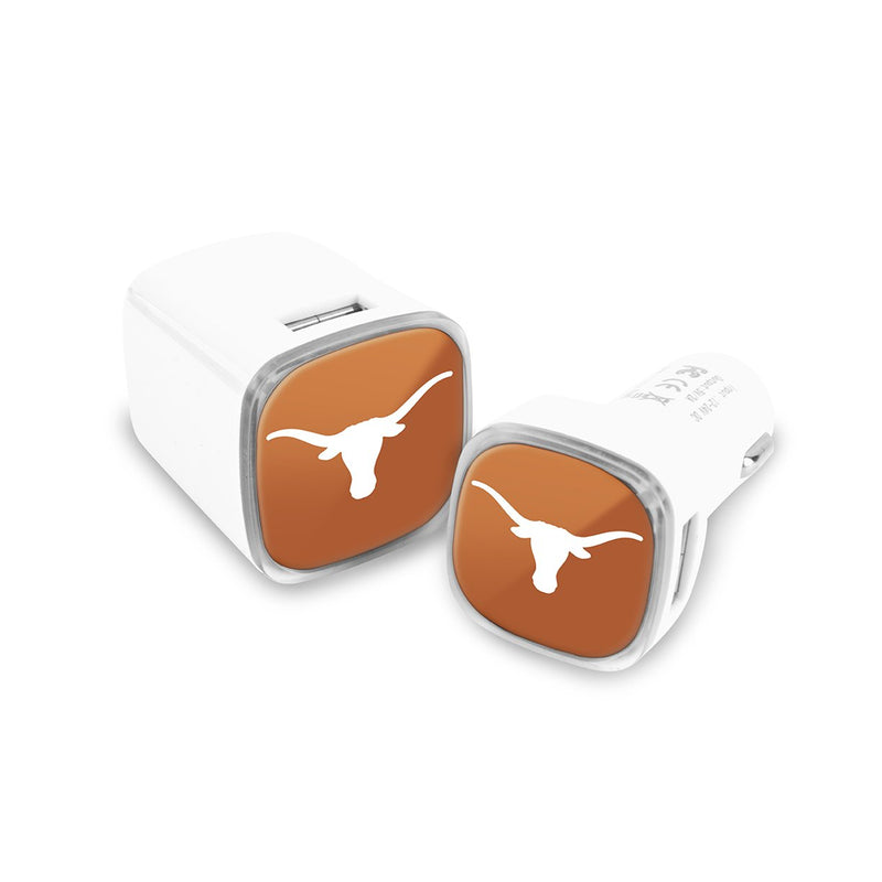 Texas Longhorns Car & Wall Charger 2 Pack - Prime Brands Group