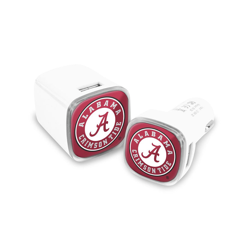 Alabama Crimson Tide Car & Wall Charger 2 Pack - Prime Brands Group