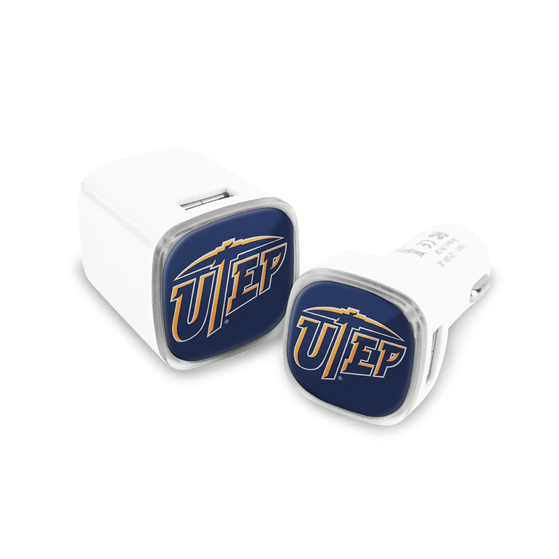 University of Texas, El Paso  Car & Wall Charger 2 Pack - Prime Brands Group
