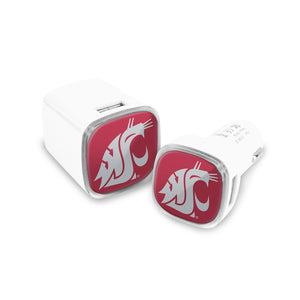 Washington State Cougars Car and Wall Chargers