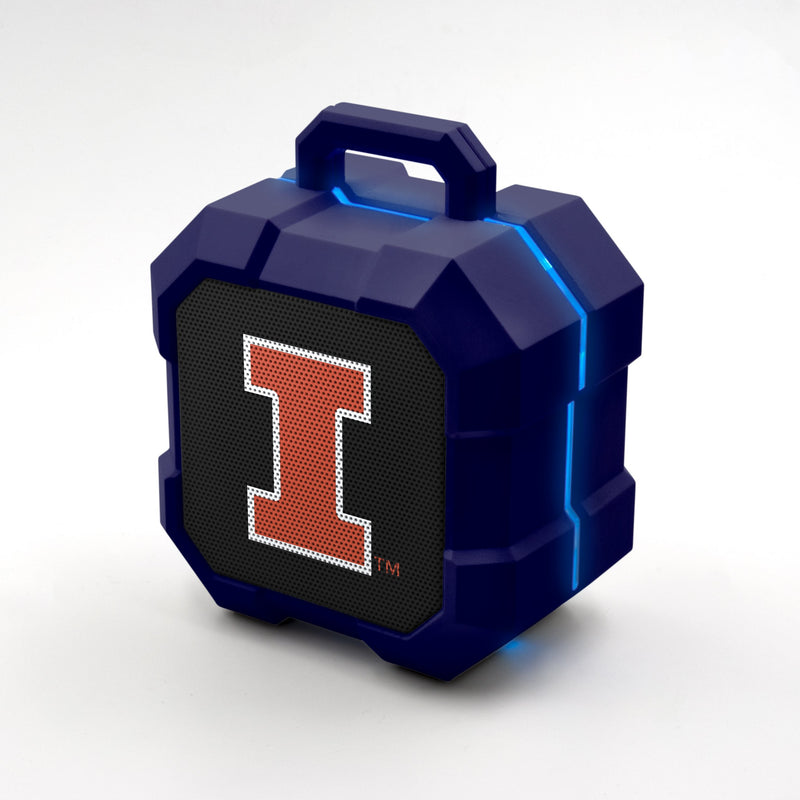 West Fighting Illini ShockBox LED Speaker - Prime Brands Group
