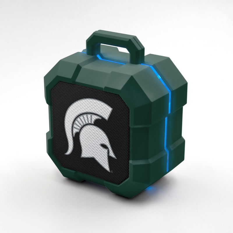 Michigan State Spartans ShockBox LED Speaker - Prime Brands Group