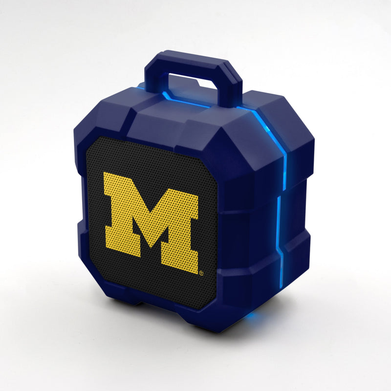 Michigan Wolverines ShockBox LED Speaker - Prime Brands Group