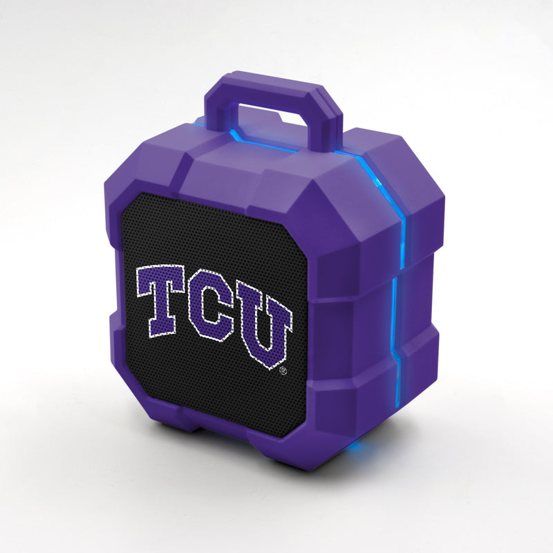 TCU Horned Frogs ShockBox LED Speaker - Prime Brands Group