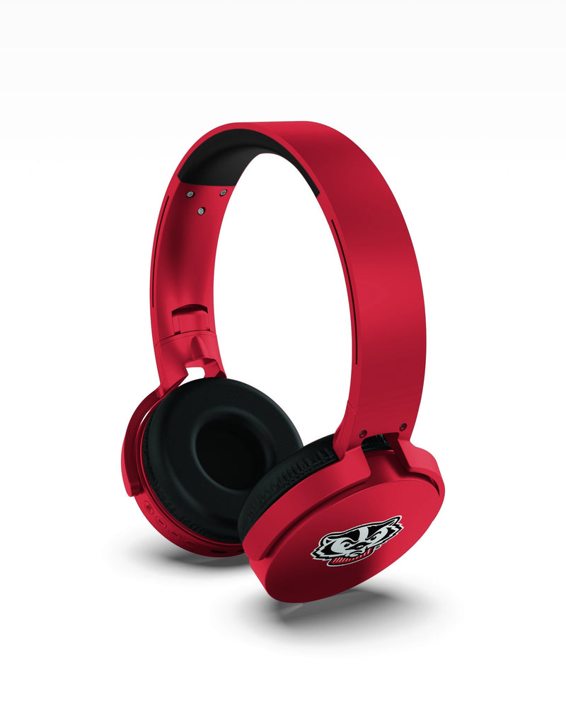 Wisconsin Badgers Wireless DJ Headphones - Prime Brands Group