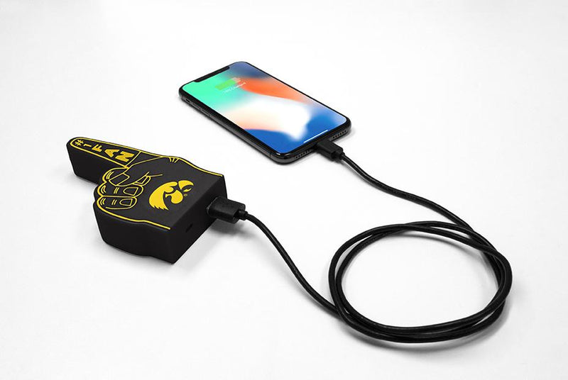 Iowa Hawkeyes Fan Finger Powerbank - Prime Brands Group