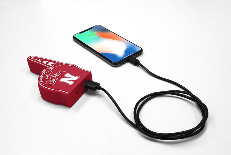 Nebraska Cornhuskers Fan Finger Powerbank - Prime Brands Group