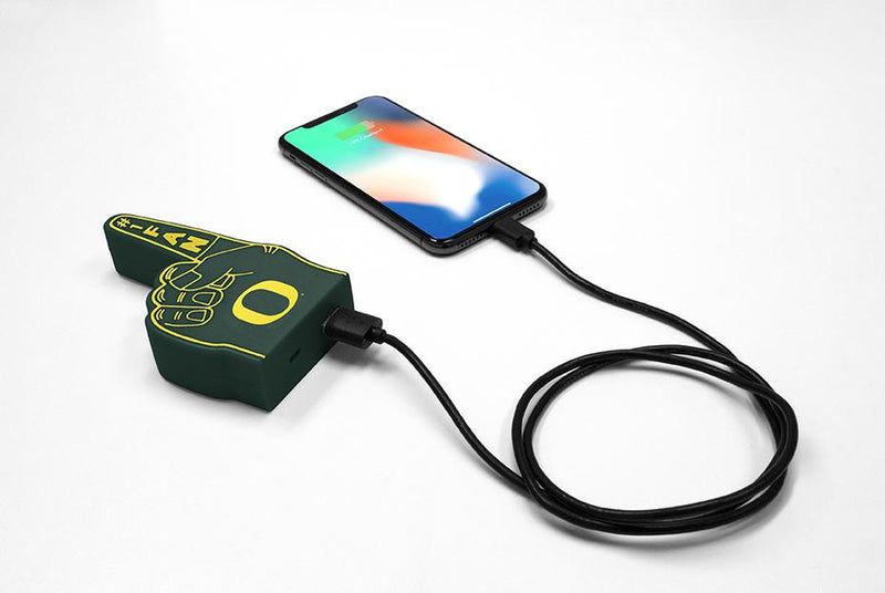 Oregon Ducks Fan Finger Powerbank - Prime Brands Group