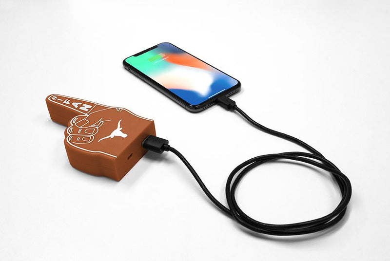 Texas Longhorns Fan Finger Powerbank - Prime Brands Group