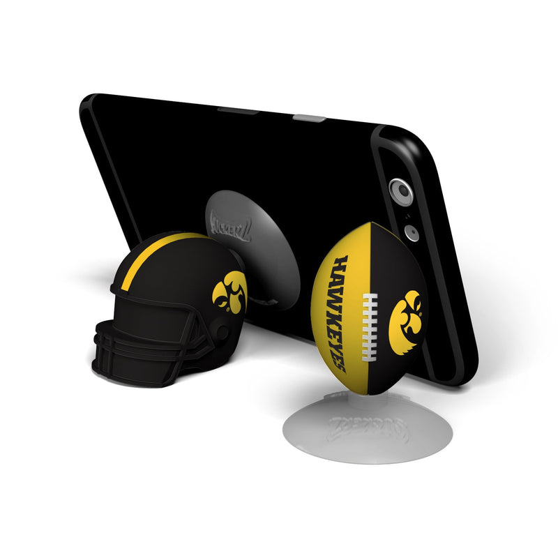 Iowa Hawkeyes  SUCKERZ Football/Helmet 2 Pack - Prime Brands Group