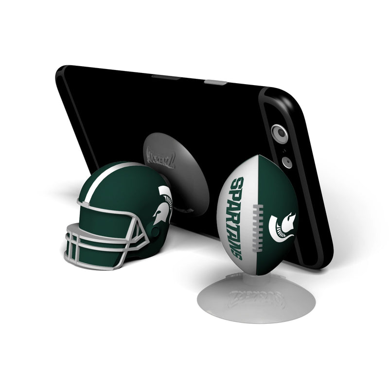 Michigan State Spartans  SUCKERZ Football/Helmet 2 Pack - Prime Brands Group