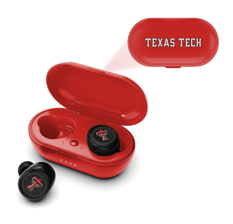 Texas Tech Red Raiders True Wireless Earbuds