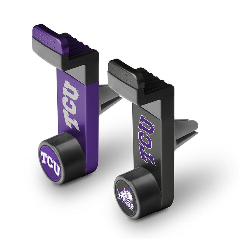 TCU Horned Frogs Car Mount 2 Pack - Prime Brands Group