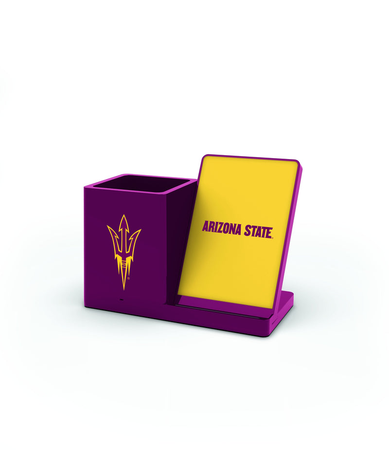 Arizona State Sun Devils Wireless Charging Pen Holder - Prime Brands Group
