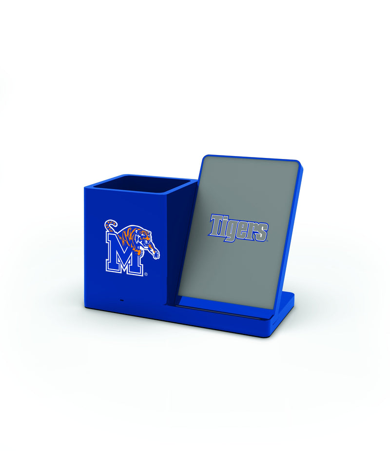 Memphis Tigers Wireless Charging Pen Holder - Prime Brands Group