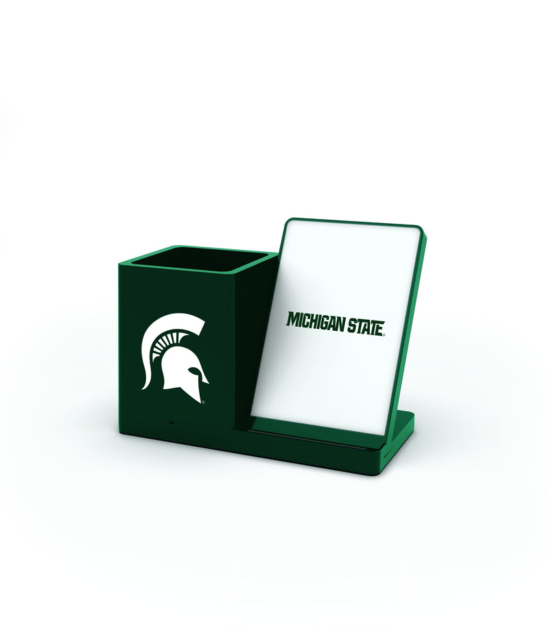 Michigan State Spartans Wireless Charging Pen Holder - Prime Brands Group