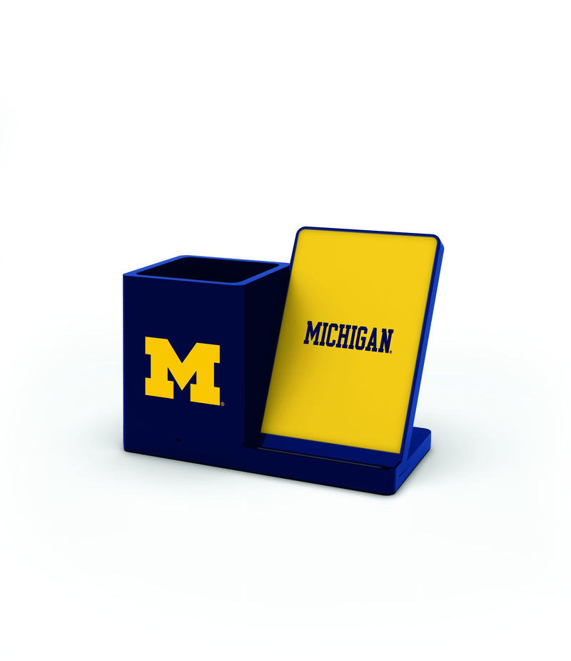 Michigan Wolverines Wireless Charging Pen Holder - Prime Brands Group