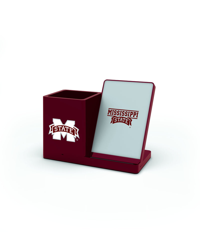 Mississippi State Bulldogs Wireless Charging Pen Holder - Prime Brands Group