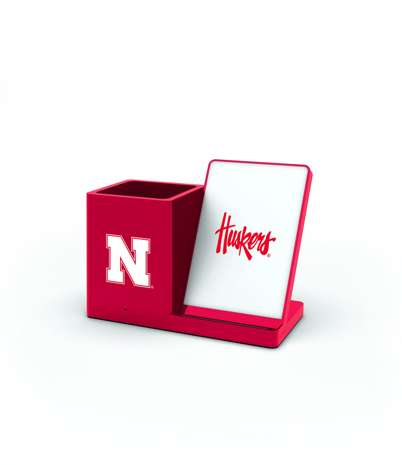 Nebraska Cornhuskers Wireless Charging Pen Holder - Prime Brands Group