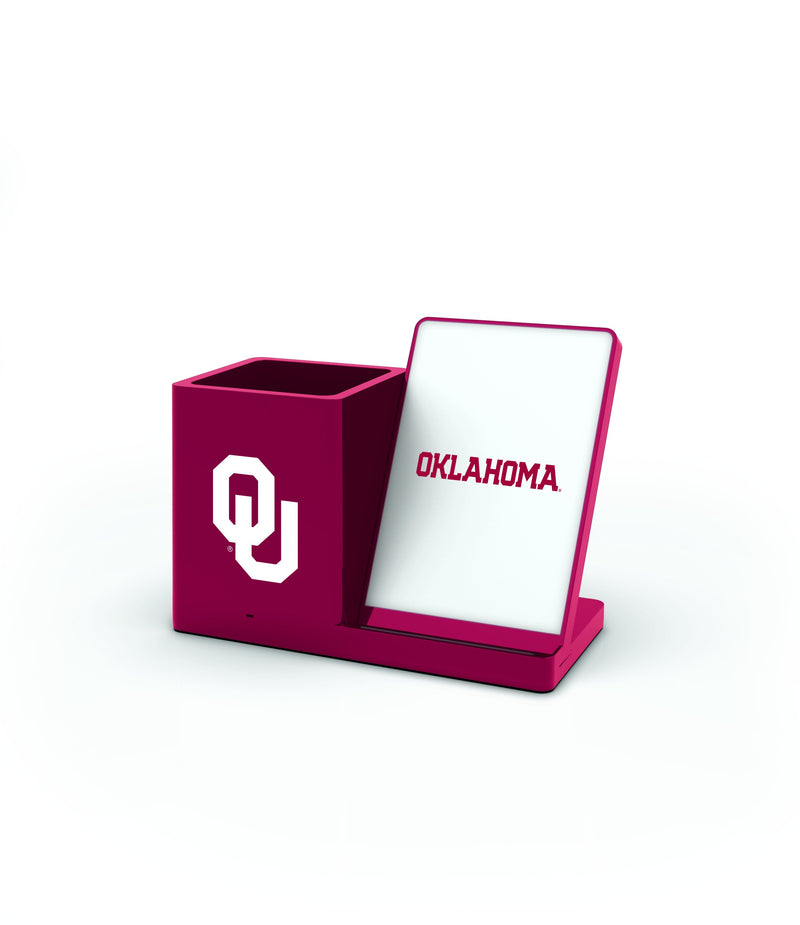 Oklahoma Sooners Wireless Charging Pen Holder - Prime Brands Group