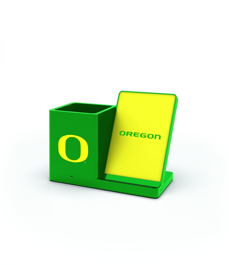 Oregon Ducks Wireless Charging Pen Holder - Prime Brands Group