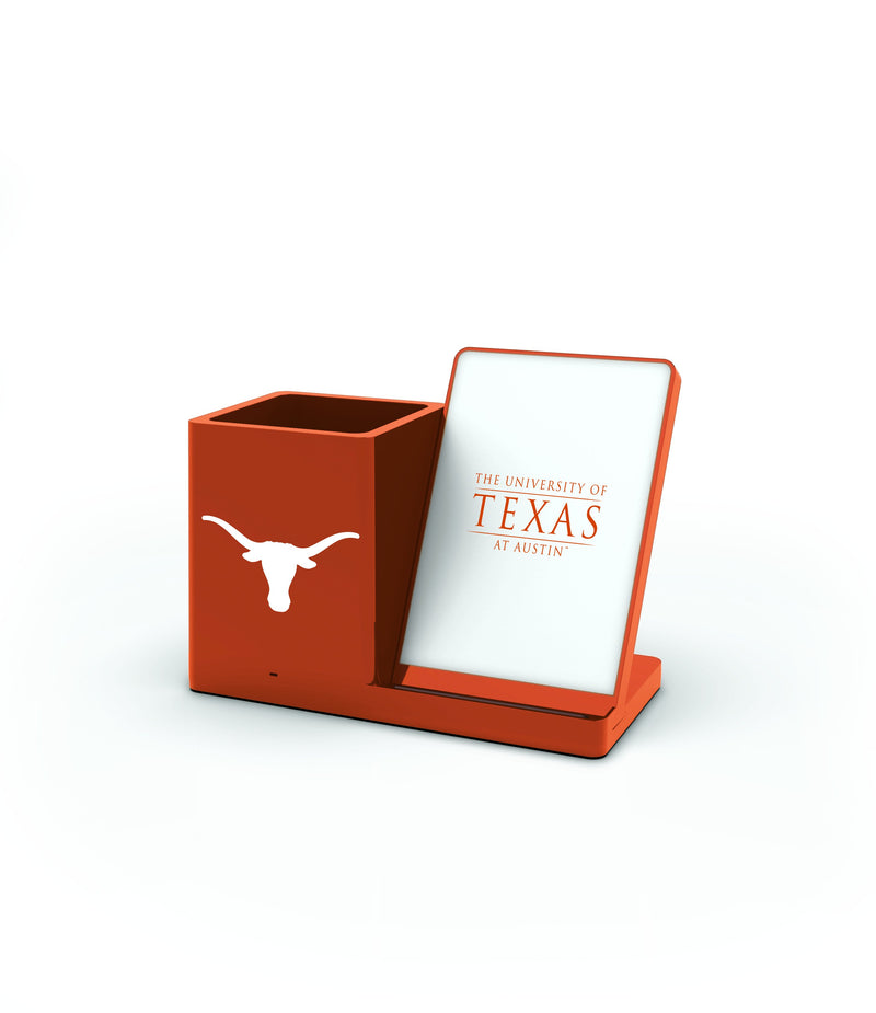 Texas Longhorns Wireless Charging Pen Holder - Prime Brands Group