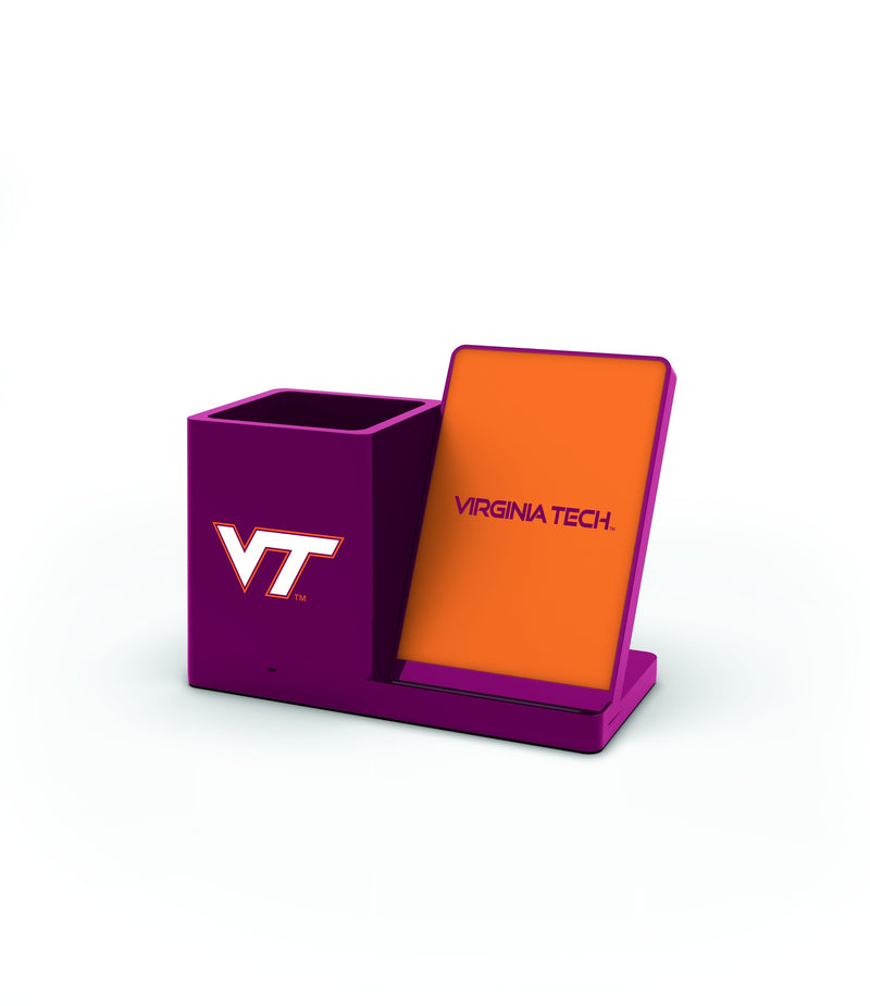Illinois Tech Hokies Wireless Charging Pen Holder - Prime Brands Group