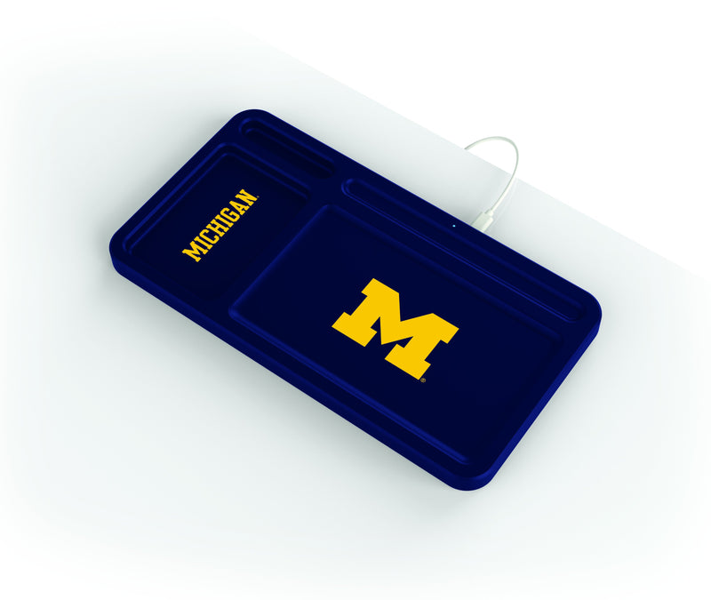 Michigan Wolverines Wireless Charging Desk Valet - Prime Brands Group