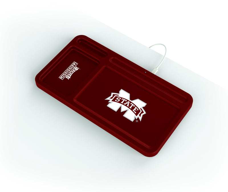 Mississippi State Bulldogs Wireless Charging Desk Valet - Prime Brands Group