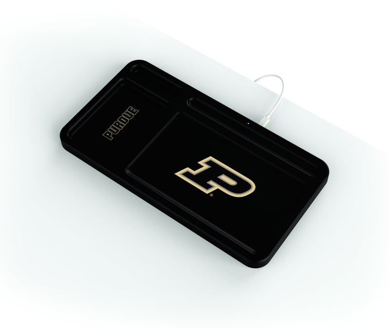 Purdue Boilermakers Wireless Charging Desk Valet - Prime Brands Group