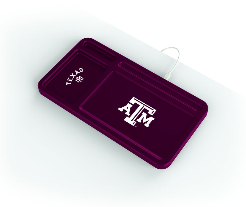Texas A&M Aggies Wireless Charging Desk Valet - Prime Brands Group
