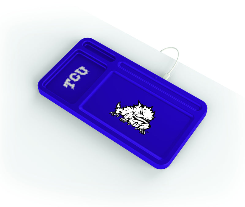 TCU Horned Frogs Wireless Charging Desk Valet - Prime Brands Group