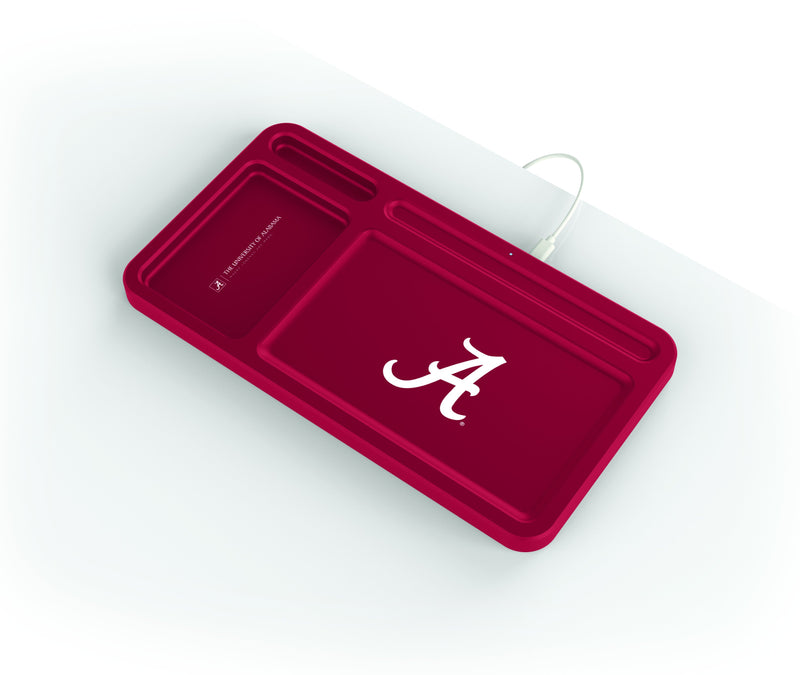 Alabama Crimson Tide Wireless Charging Desk Valet - Prime Brands Group