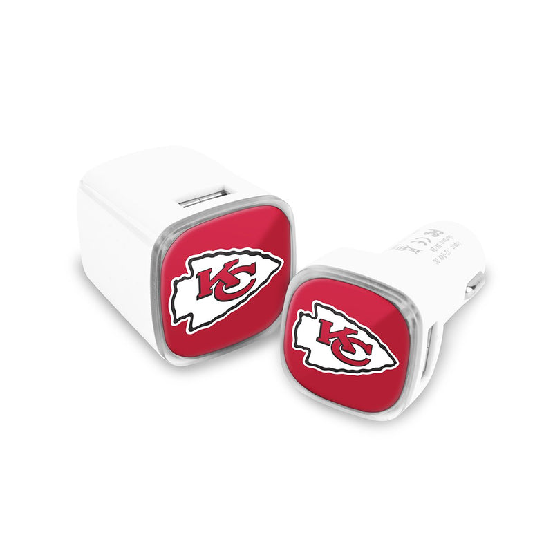 Kansas City Chiefs Car & Wall Charger 2 Pack - Prime Brands Group