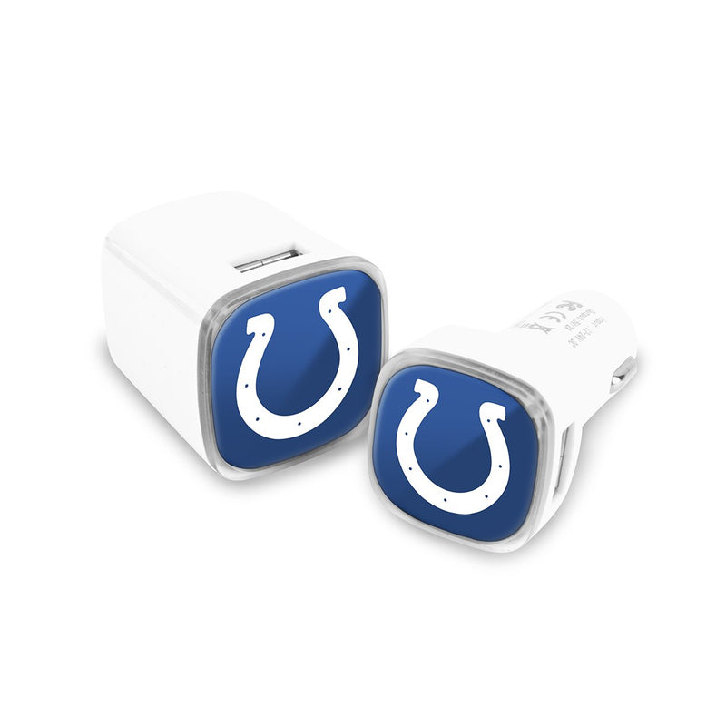 Indianapolis Colts Car & Wall Charger 2 Pack - Prime Brands Group