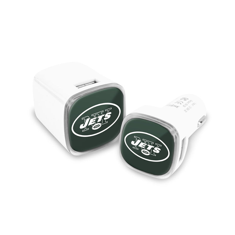 New York Jets Car & Wall Charger 2 Pack - Prime Brands Group