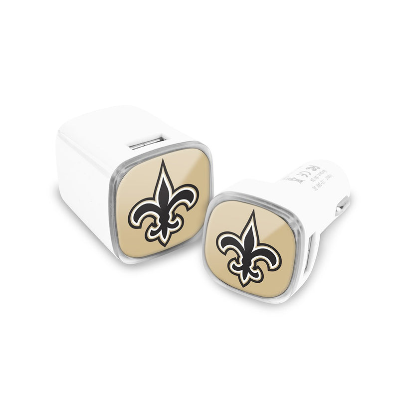 New Orleans Saints Car & Wall Charger 2 Pack - Prime Brands Group