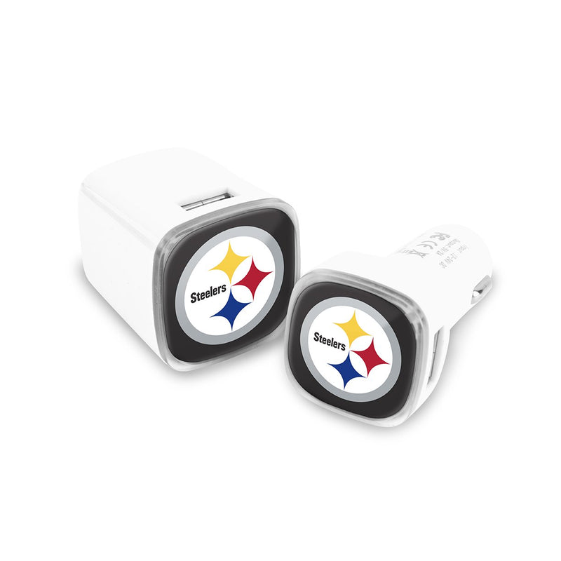 Pittsburgh Steelers Car & Wall Charger 2 Pack - Prime Brands Group