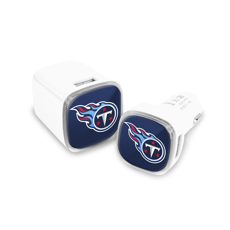 Tennessee Titans Car & Wall Charger 2 Pack - Prime Brands Group