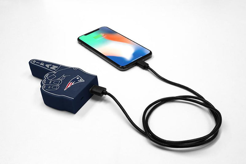 New England Patriots Fan Finger Powerbank - Prime Brands Group