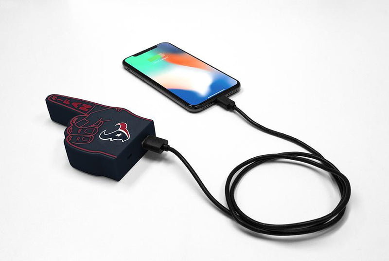 Houston Texans Fan Finger Powerbank - Prime Brands Group