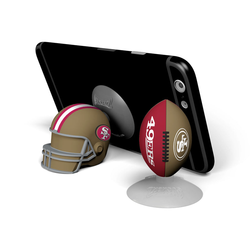 San Francisco 49ers 2-Pack Football & Helmet Suckerz - Prime Brands Group