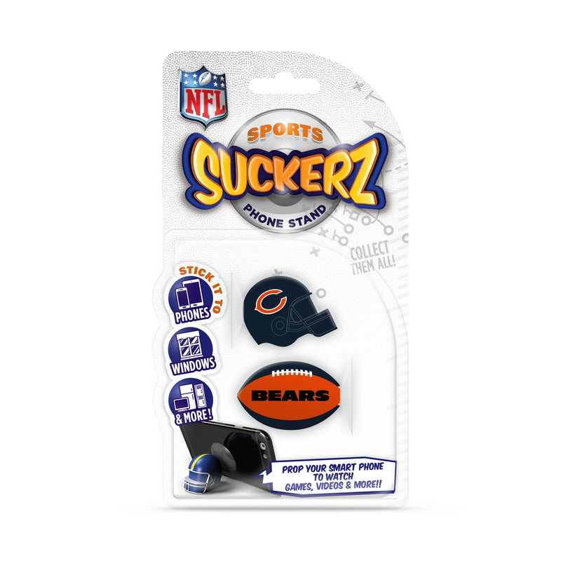 Chicago Bears 2-Pack Football & Helmet Suckerz
