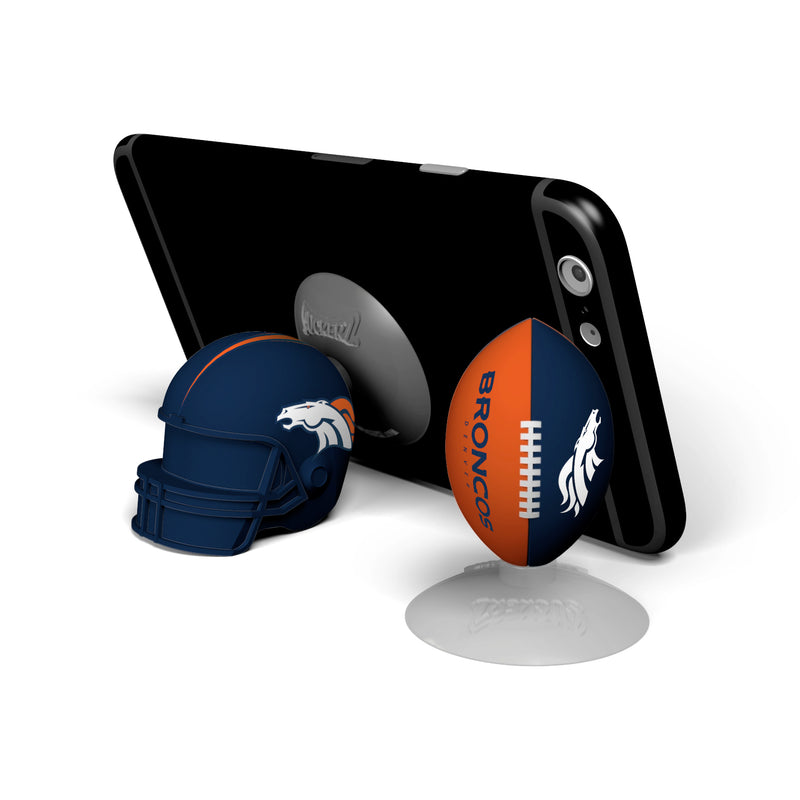 Denver Broncos 2-Pack Football & Helmet Suckerz - Prime Brands Group