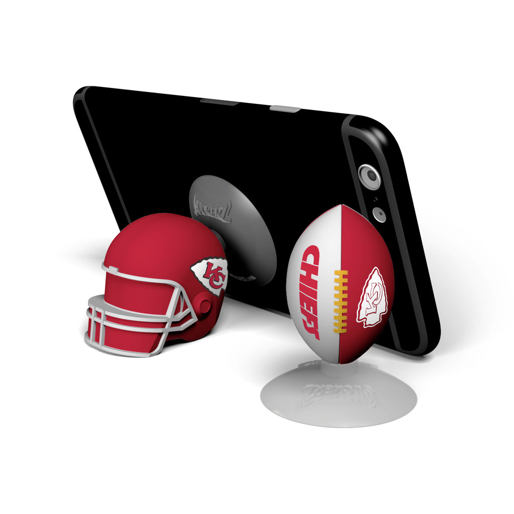 Kansas City Chiefs 2-Pack Football & Helmet Suckerz - Prime Brands Group