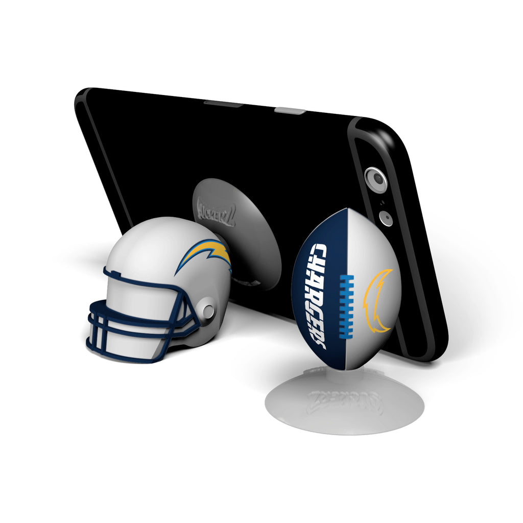 Los Angeles Chargers 2-Pack Football & Helmet Suckerz - Prime Brands Group