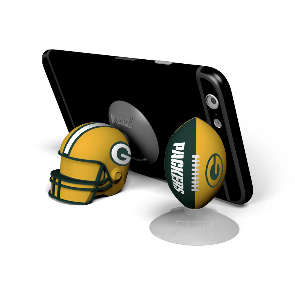 Green Bay Packers 2-Pack Football & Helmet Suckerz - Prime Brands Group